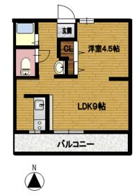 fメゾン堀田 202号室の間取り