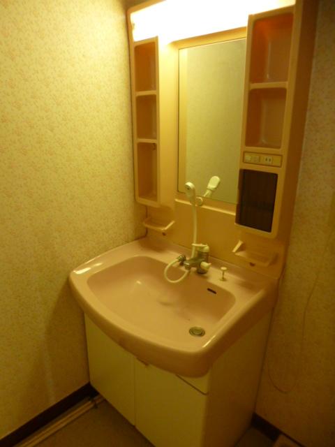鴨江住宅の洗面所