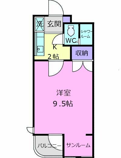 和地山ロイドアパート 102号室の間取り