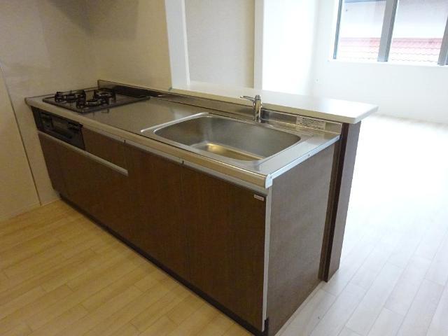 (仮称)茂原市高師新築マンション 203号室のキッチン