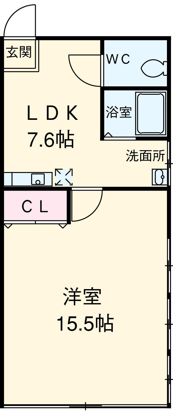 第3プレシードビル・801号室の間取り