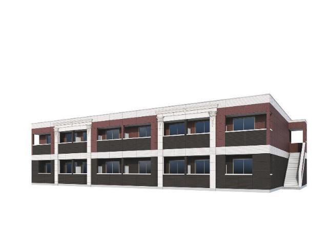 君津市大和田3丁目新築アパートA棟外観写真