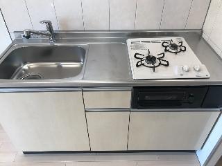 君津市大和田3丁目新築アパートA棟 106号室のキッチン