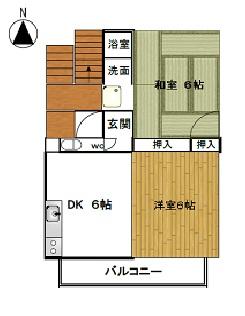 21センチュリーハウス1棟 205号室の間取り