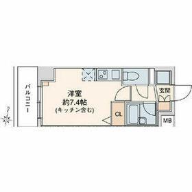 スペーシア堀田・0803号室の間取り
