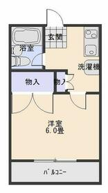 ルミネス大和田・201号室の間取り