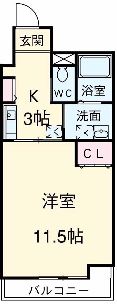第一つきみビル 303号室の間取り