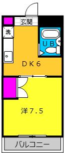 GREEN KOMATSU・105号室の間取り