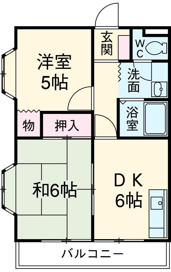 ひかりマンション 308号室の間取り