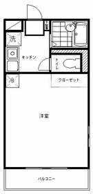 K&M新宿・205号室の間取り