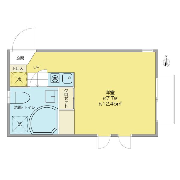 リンデンバウムJ6 A棟・202号室の間取り
