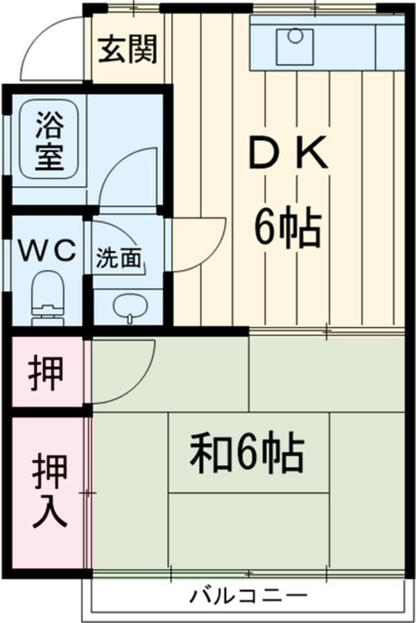 加藤荘・202号室の間取り