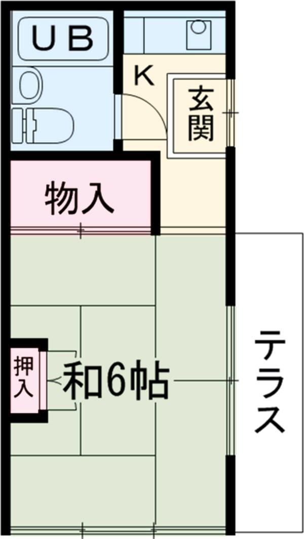 塩田方・1号室の間取り