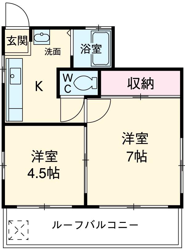 マンション小俣・5A号室の間取り