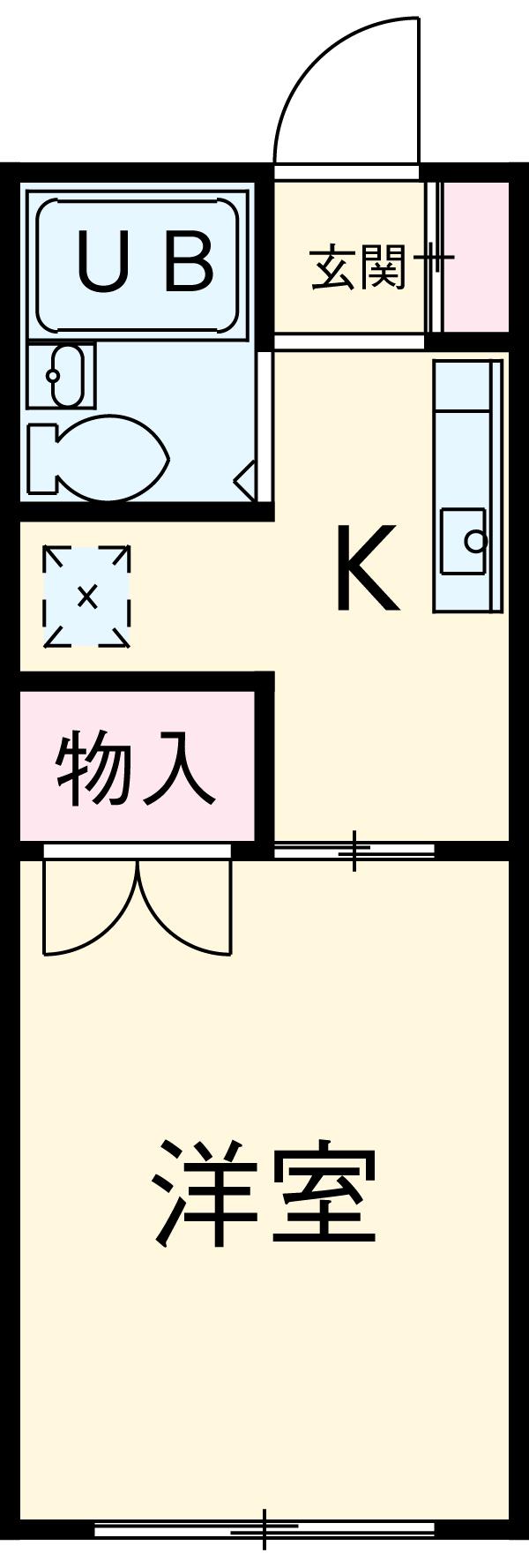 吉澤アパート 201号室の間取り