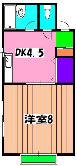 サンコーポヤマブン 201号室の間取り
