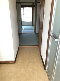 ハウス五月 202号室の玄関