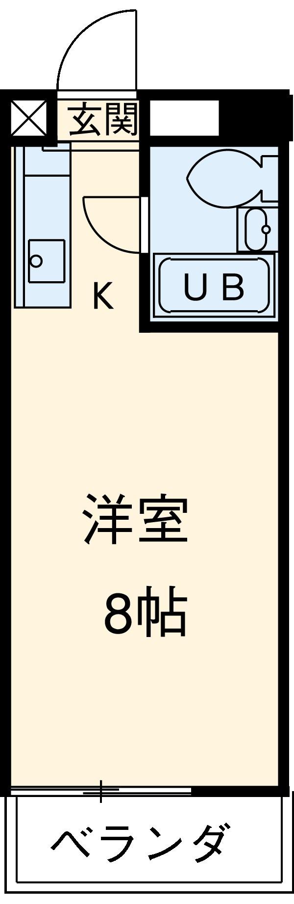 ビラ三秀植田 201号室の間取り