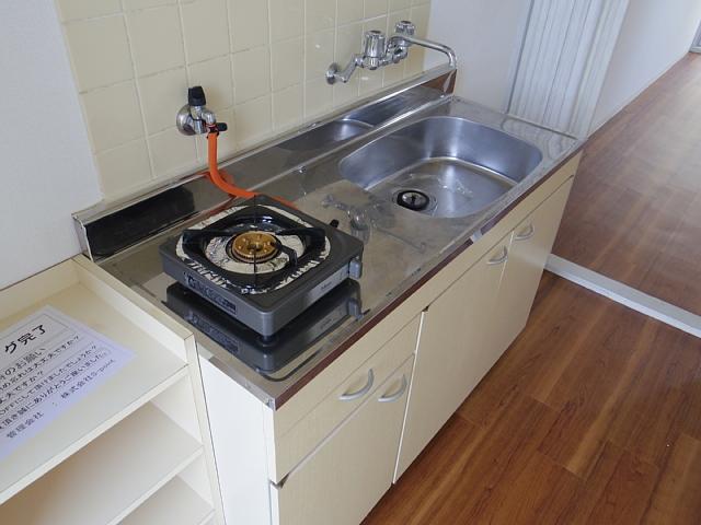 ビラ三秀植田 201号室のキッチン