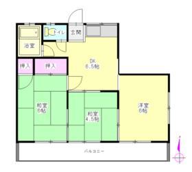 第二新栄荘・206号室の間取り