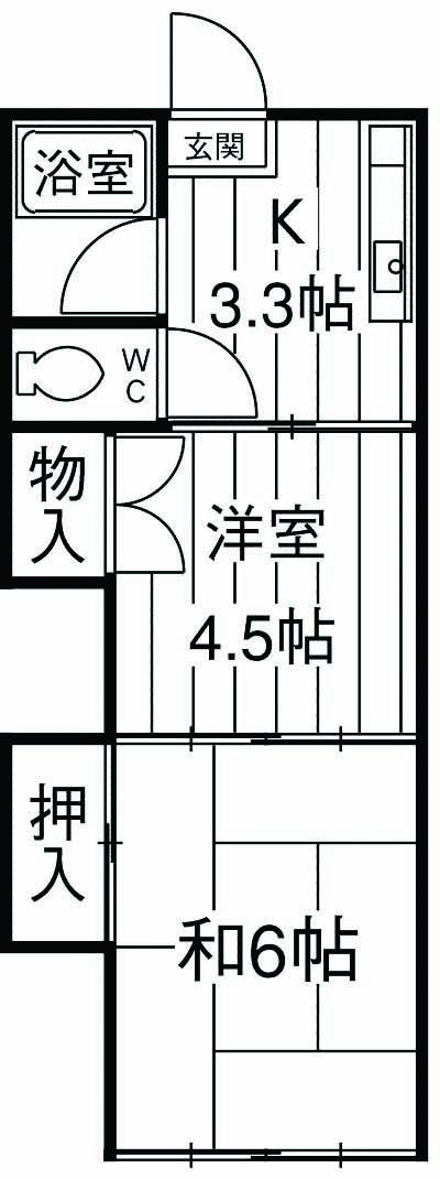 第2鈴春コーポ 103号室の間取り