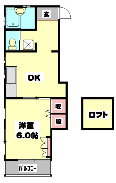 平田荘 202号室の間取り