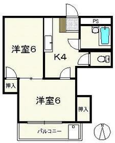 持田学園ビル 202号室の間取り