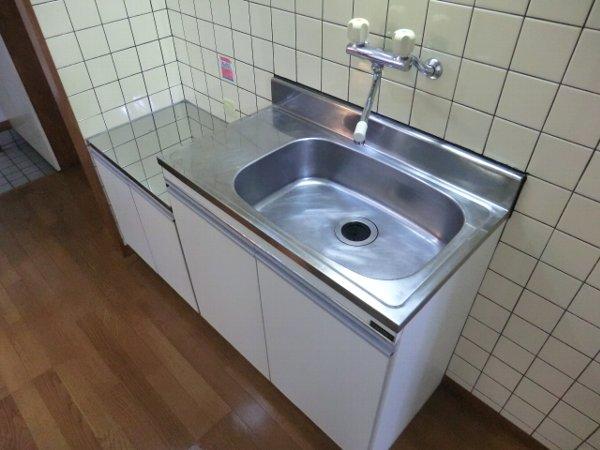 グリンビュー清水 102号室のキッチン