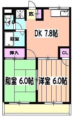 金子マンション5番館・201号室の間取り