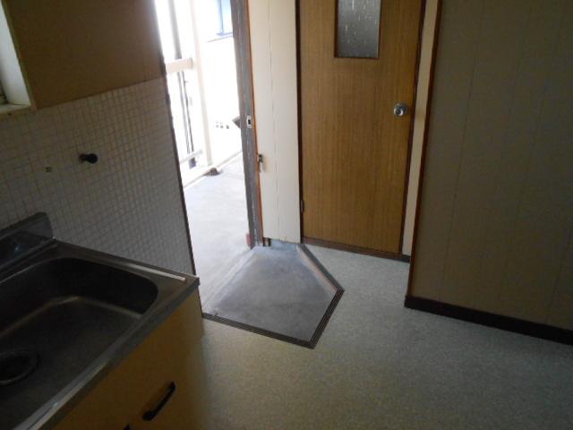 上中荘 17号室の玄関