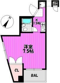 メゾン小川 201号室の間取り