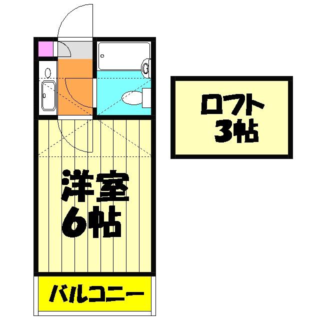 ジュネパレス津田沼第3 105号室の間取り