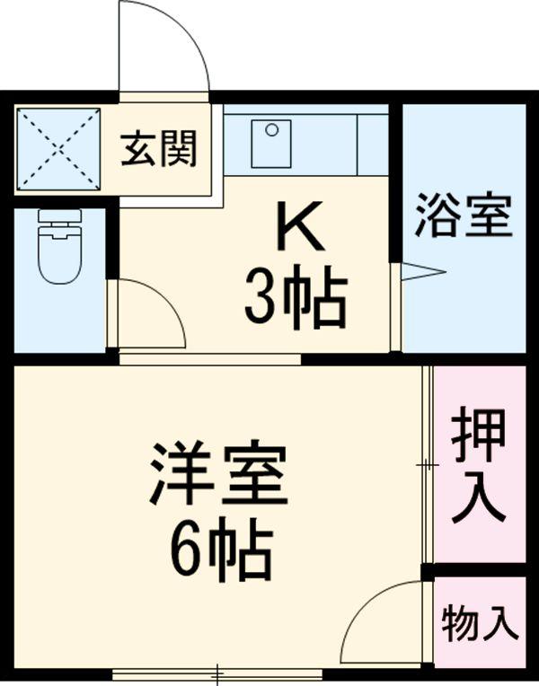 入江ハイツ・201号室の間取り