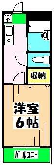 飛田第2ビル・302号室の間取り
