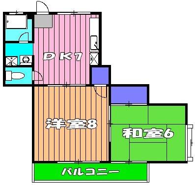 鈴木マンション・202号室の間取り