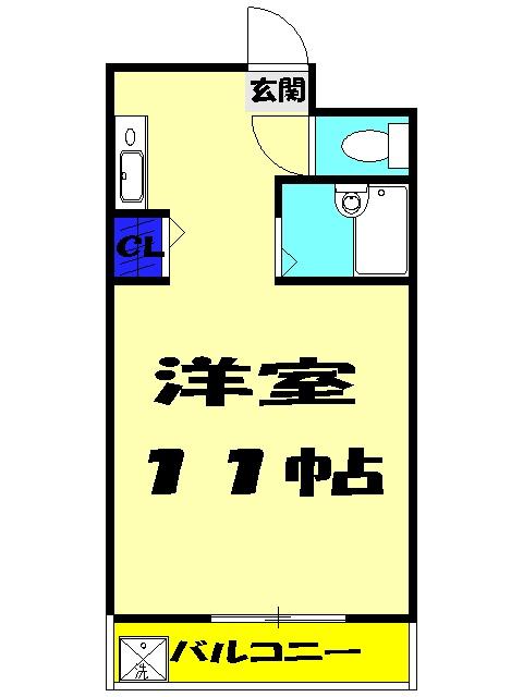 ドミールスズキ津田沼・301号室の間取り