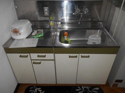 福岡ワンルームマンション A112号室のキッチン