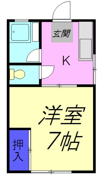 津田沼ハイツ 103号室の間取り