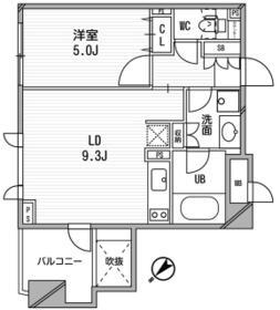 クリオ渋谷ラ・モード・209号室の間取り
