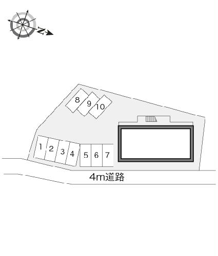 レオパレスシーサイド 201号室の駐車場