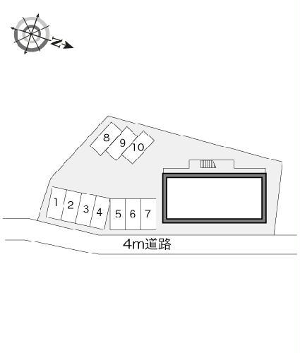 レオパレスシーサイド 206号室の駐車場