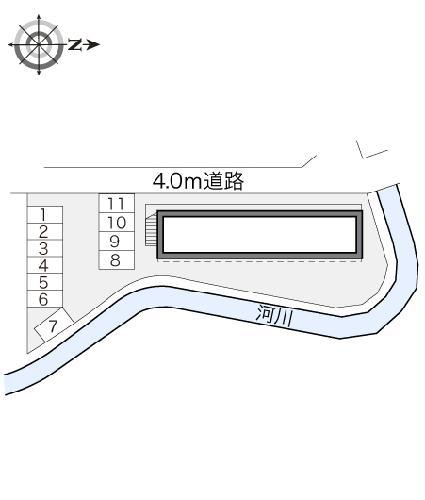 レオパレスリバーサイド 208号室の駐車場