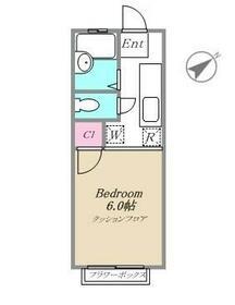 シャトルK3(シャトルケイスリー)・106号室の間取り