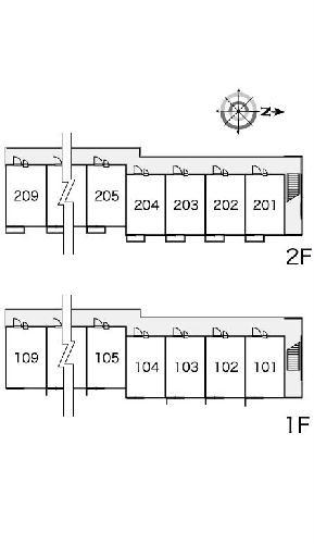 レオパレスルピナス 205号室の設備