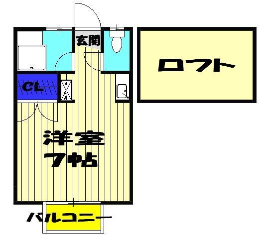ヒルサイド三山・203号室の間取り