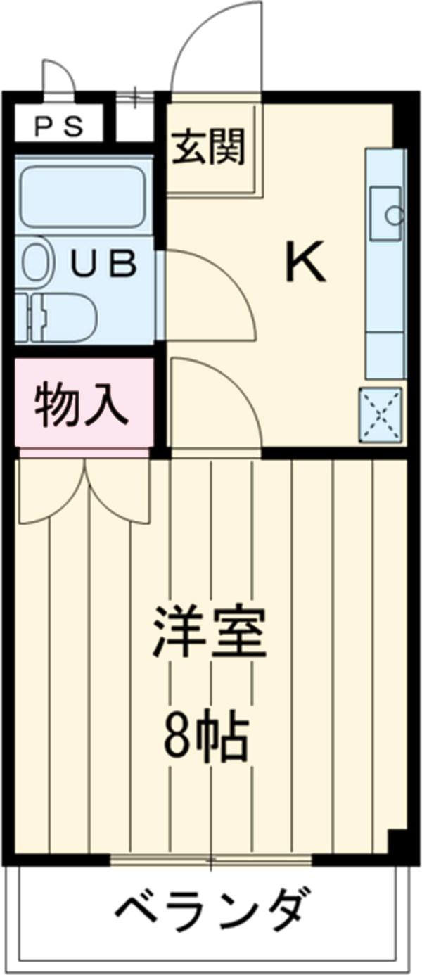 シャンポール三栄前山Ⅱ 105号室の間取り