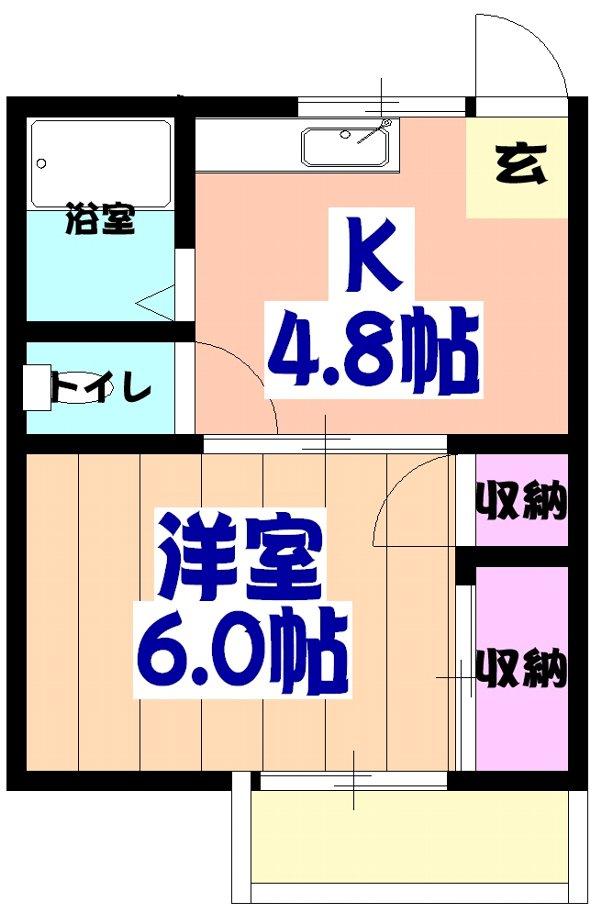 山平アパート 201号室の間取り