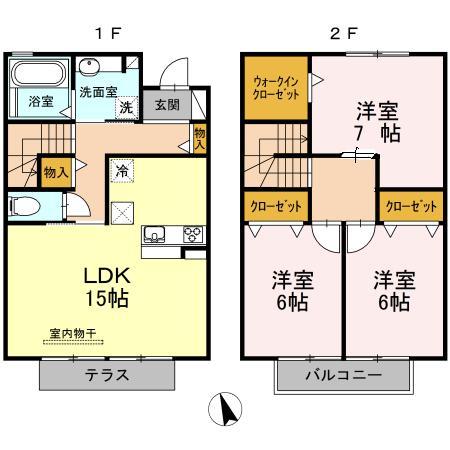 戸崎東山荘・101号室の間取り