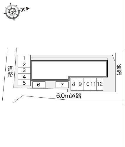 レオパレス山竹Ⅰ 107号室の駐車場