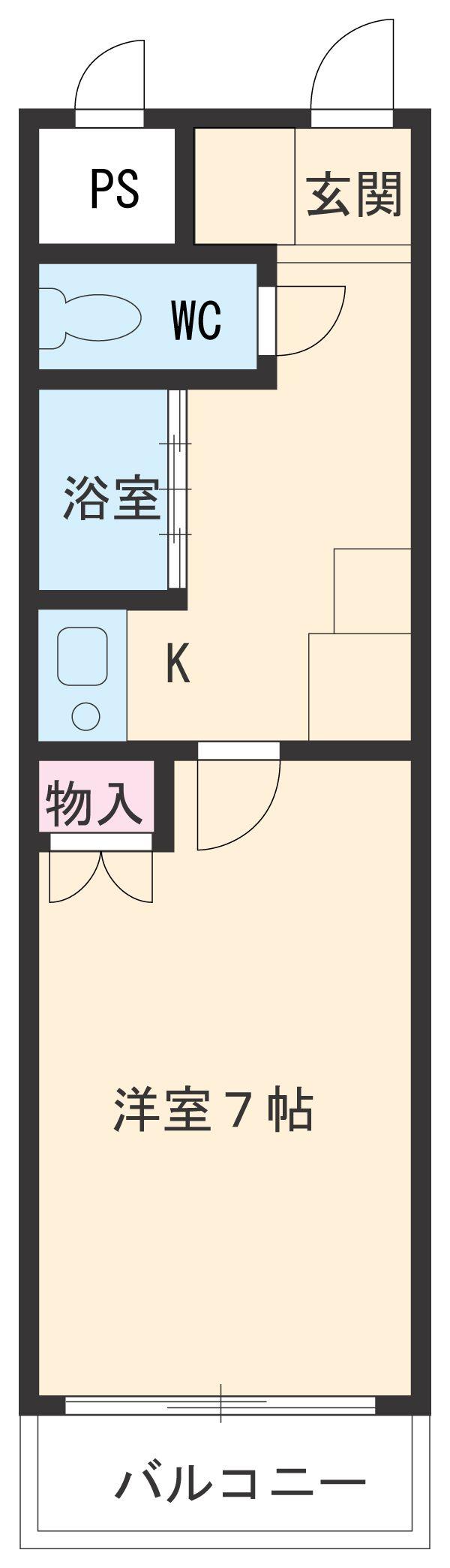 C'pac三河豊田 102号室の間取り